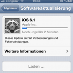 iOS 6.1: 107 MB Update für das iPhone 5