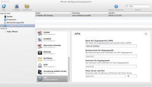 Anpassen des APN mit iPhone-Konfigurationsprogramm