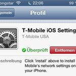 T-Mobile USA Carrier-Profil auf iPhone 5