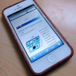 Echtholz-Hülle für das iPhone 5 aus Mahagoni