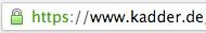 HTTPS korrekt aktiviert für kadder.de