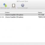 BitTorrent Sync Client für Mac OS