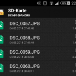 Fotos auf SD-Card mit Android 4.4.2