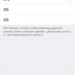 iOS 8.3 bringt die Wahl des Netzstandards