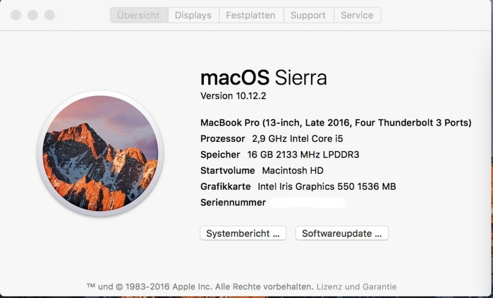 """macOS """"Sierra"""" 10.12.2"""