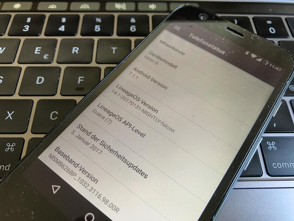 LineageOS 14.1 (Android 7.1.1) auf Moto G (falcon)