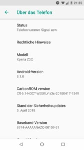"CarbonROM ""Noct"" based on Android 8.1 ""Oreo"