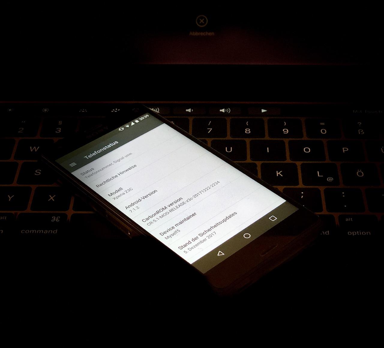 Sony Z3 Compact mit Android 7.1.2 - nur über Custom-ROMs möglich