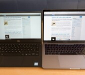 DELL XPS 13: Pantalla vs. Macbook Pro