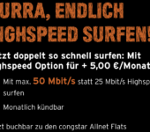 Congstar Highspeed-Option (Quelle: congstar.de)