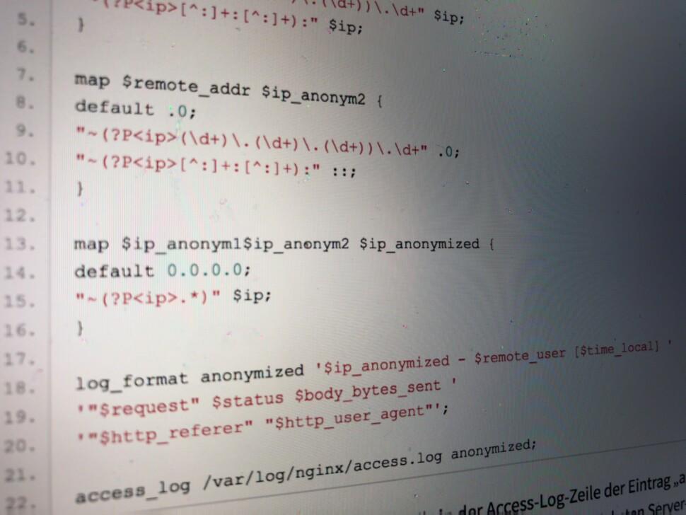 Nginx: IP-Adresse nicht in Log-Files speichern - tech