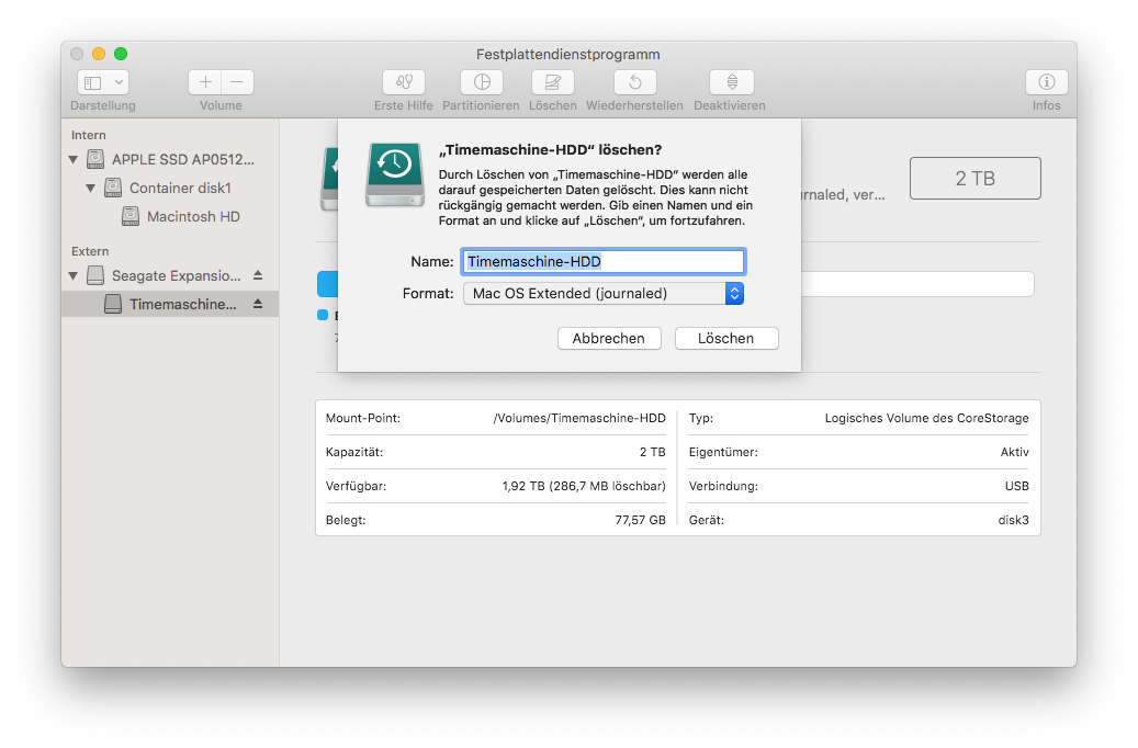 "In the Disk Utility, under Format, select ""Mac OS Extended (journaled, encrypted)""."